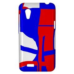 Blue, red, white design  HTC Desire VT (T328T) Hardshell Case