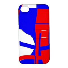 Blue, red, white design  Apple iPhone 4/4S Hardshell Case with Stand