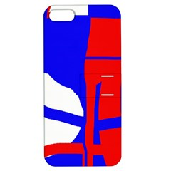 Blue, red, white design  Apple iPhone 5 Hardshell Case with Stand