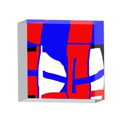 Blue, red, white design  4 x 4  Acrylic Photo Blocks