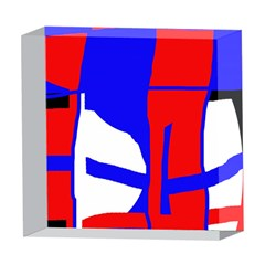 Blue, red, white design  5  x 5  Acrylic Photo Blocks