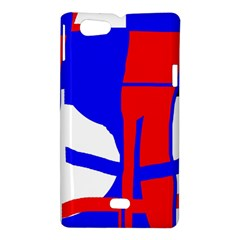 Blue, red, white design  Sony Xperia Miro
