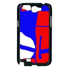 Blue, red, white design  Samsung Galaxy Note 2 Case (Black)