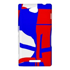 Blue, red, white design  Sony Xperia C (S39H)