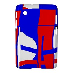 Blue, red, white design  Samsung Galaxy Tab 2 (7 ) P3100 Hardshell Case