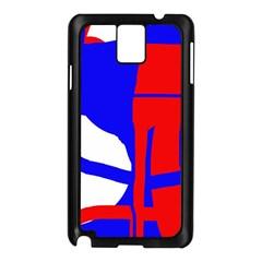 Blue, red, white design  Samsung Galaxy Note 3 N9005 Case (Black)