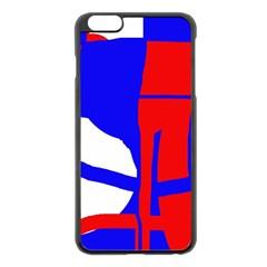 Blue, red, white design  Apple iPhone 6 Plus/6S Plus Black Enamel Case