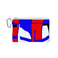 Blue, red, white design  Canvas Cosmetic Bag (S)