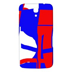 Blue, red, white design  Samsung Galaxy Mega I9200 Hardshell Back Case