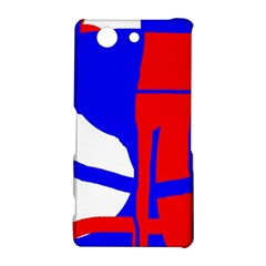 Blue, red, white design  Sony Xperia Z3 Compact