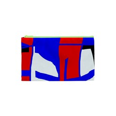 Blue, red, white design  Cosmetic Bag (XS)