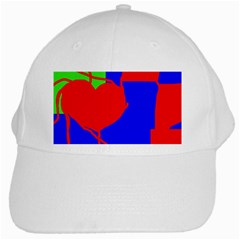Abstract hart White Cap