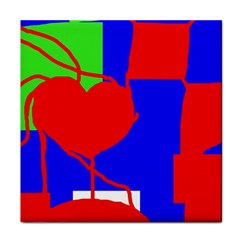 Abstract hart Tile Coasters