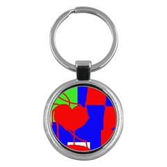 Abstract hart Key Chains (Round)