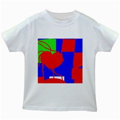 Abstract hart Kids White T-Shirts