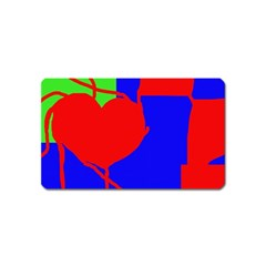 Abstract hart Magnet (Name Card)