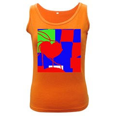 Abstract hart Women s Dark Tank Top