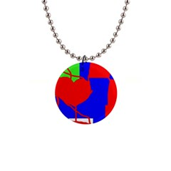 Abstract hart Button Necklaces