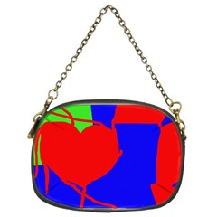Abstract hart Chain Purses (Two Sides)