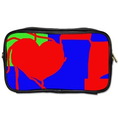 Abstract hart Toiletries Bags