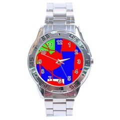 Abstract hart Stainless Steel Analogue Watch