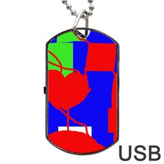 Abstract hart Dog Tag USB Flash (One Side)