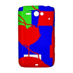 Abstract hart HTC ChaCha / HTC Status Hardshell Case