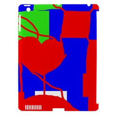 Abstract hart Apple iPad 3/4 Hardshell Case (Compatible with Smart Cover)