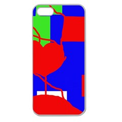 Abstract hart Apple Seamless iPhone 5 Case (Clear)