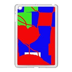Abstract hart Apple iPad Mini Case (White)