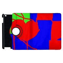 Abstract hart Apple iPad 2 Flip 360 Case