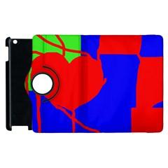 Abstract hart Apple iPad 3/4 Flip 360 Case
