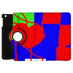 Abstract hart Apple iPad Mini Flip 360 Case