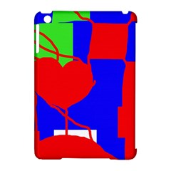 Abstract hart Apple iPad Mini Hardshell Case (Compatible with Smart Cover)