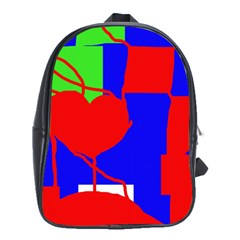 Abstract hart School Bags (XL)