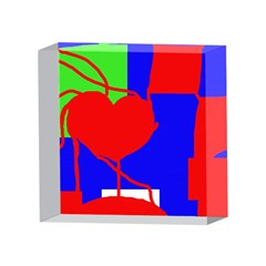 Abstract hart 4 x 4  Acrylic Photo Blocks