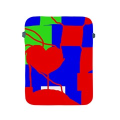 Abstract hart Apple iPad 2/3/4 Protective Soft Cases