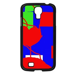 Abstract hart Samsung Galaxy S4 I9500/ I9505 Case (Black)