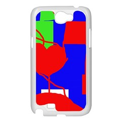 Abstract hart Samsung Galaxy Note 2 Case (White)