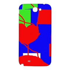 Abstract hart Samsung Note 2 N7100 Hardshell Back Case