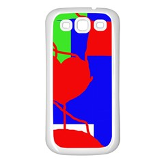 Abstract hart Samsung Galaxy S3 Back Case (White)