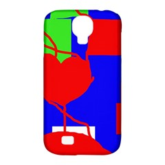 Abstract hart Samsung Galaxy S4 Classic Hardshell Case (PC+Silicone)