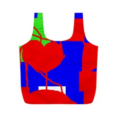 Abstract hart Full Print Recycle Bags (M)