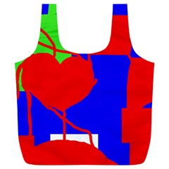 Abstract hart Full Print Recycle Bags (L)