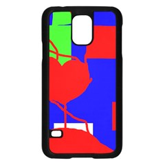 Abstract hart Samsung Galaxy S5 Case (Black)