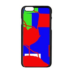 Abstract hart Apple iPhone 6/6S Black Enamel Case