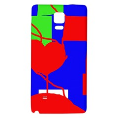 Abstract hart Galaxy Note 4 Back Case