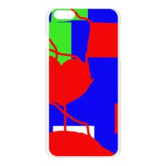 Abstract hart Apple Seamless iPhone 6 Plus/6S Plus Case (Transparent)