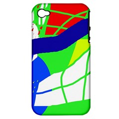 Colorful abstraction Apple iPhone 4/4S Hardshell Case (PC+Silicone)