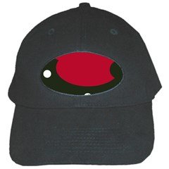 Red, black and white abstraction Black Cap